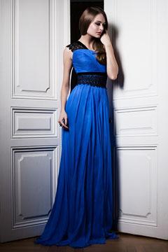 rochie eleganta in nuante electrice