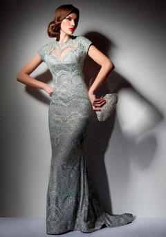 rochie eleganta nuante metalizate