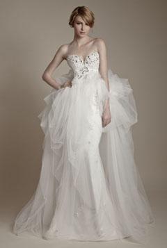 rochie mireasa asimetrica