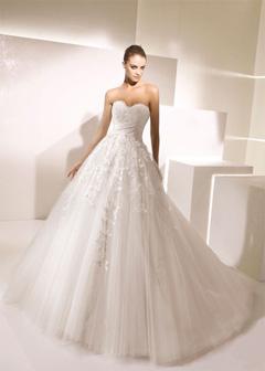 rochie de mireasa princess cu aplicatii
