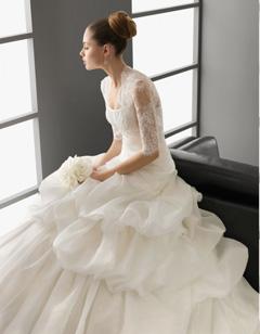 rochie mireasa cu bolero