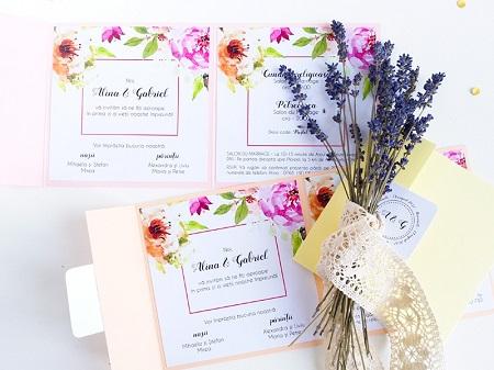 Invitatie de nunta pastel Lady Cozac