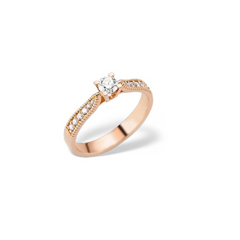 poza inel de logodna aur roz