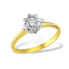 poza inel de logodna cu cristal