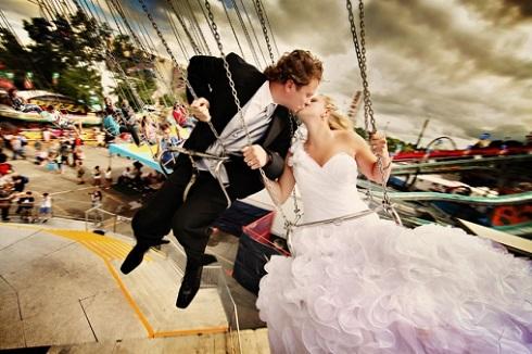 Fotografie de nunta leagan