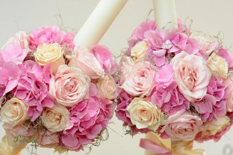 Lumanari de nunta cu flori naturale Petalia