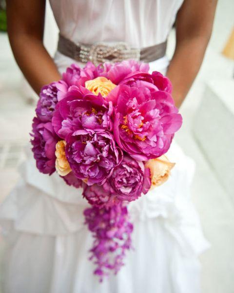 Buchet mireasa roz