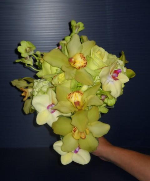 Buchet de mireasa flori verzi