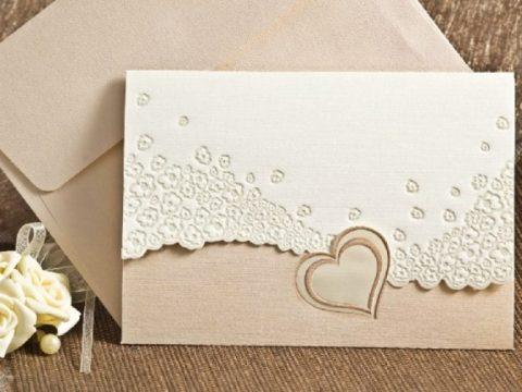 Invitatie de nunta romantica