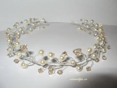 tiara perle mireasa