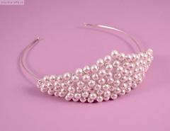 coronita perle mireasa