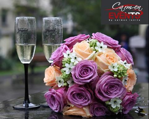 Poza aranjament floral Carmen Events
