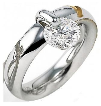 Inel de logodna Roxandy aur alb si diamant