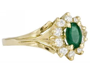 Inel de logodna Gold Mall aur galben, safir si diamant
