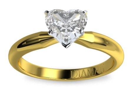 Inel de logodna Diamag aur galben si diamant
