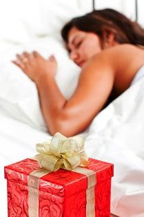 poza femeie dormid cadou de craciun