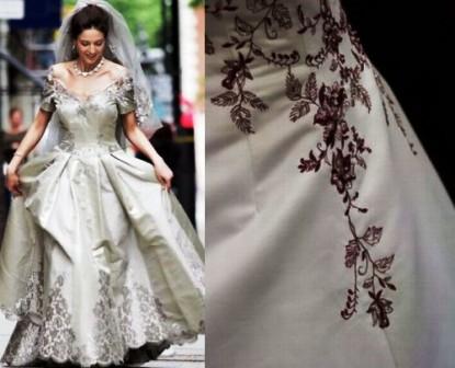 Cele mai scumpe rochii de mireasa din lume: rochia cu fir de platina