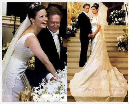 Cele mai scumpe rochii de mireasa din lume: rochia lui Catherine Zeta-Jones