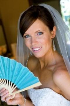 evantai de nunta colorat