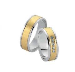 verighete aur alb cu aur galben