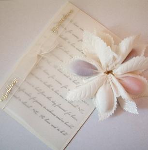 invitatie floare romantica