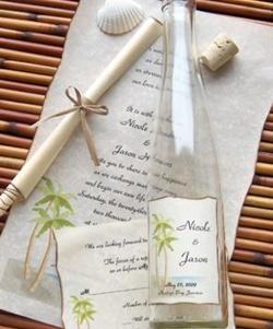 invitatie de nunta in sticla