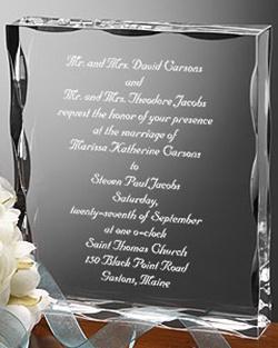 invitatie de nunta din cristal