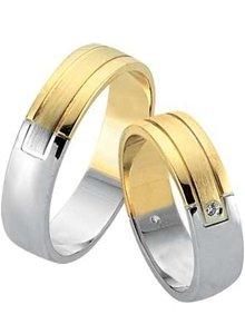 verighete din aur alb si aur galben