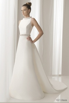 rochie de mireasa pentru femeile cu umeri ingusti