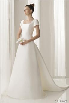 rochie de mireasa pentru femeile cu bust proeminent