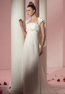rochie de mireasa cu bretele