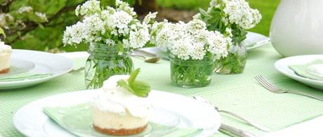 decoratiuni alb verde