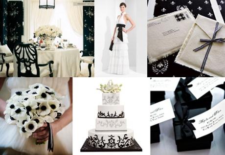 decoratiuni alb negru