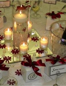decoratiuni de nunta alb rosu