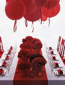 decoratiuni alb rosu