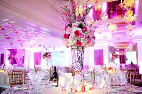 decoratiuni alb roz