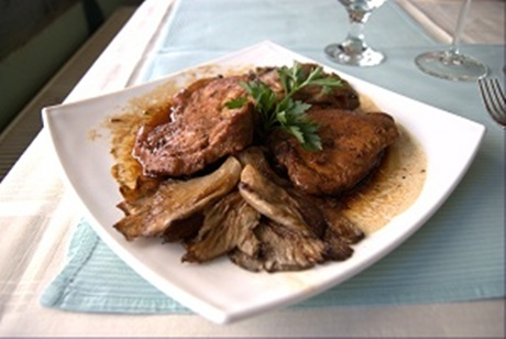 cotlet de porc cu legume