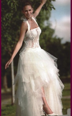 rochie mireasa cu voal