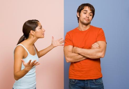 Cuplu certandu-se
