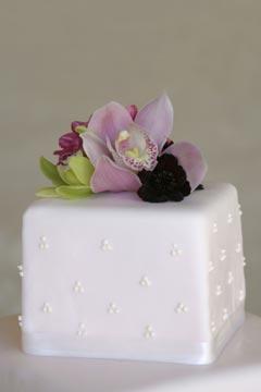 Tort simplu cu orhidee