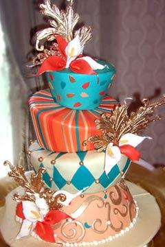 Tort asimetric colorat