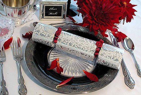 Marturie de nunta in aranjament masa