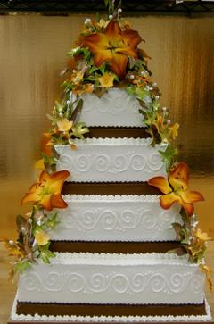 Tort de nunta cu toamna