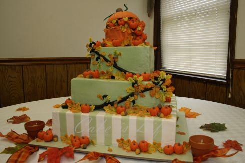 Tort de nunta tema toamna