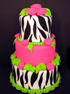 Tort nunta culori neon