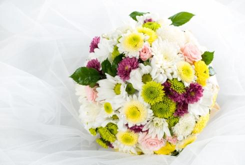 Buchet mireasa multicolor