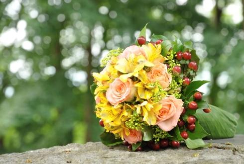 Buchet de mireasa multicolor