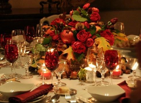 Aranjament floral pentru nunta de toamna
