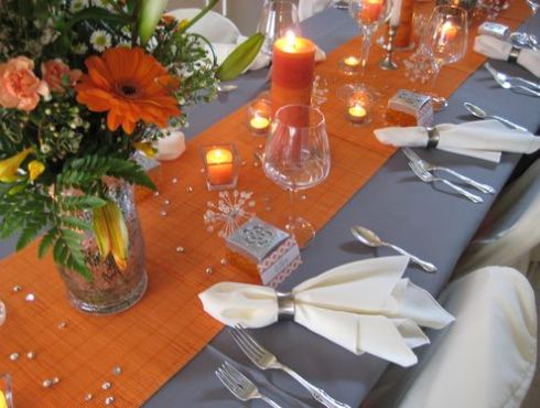 Nunta portocaliu si argintiu