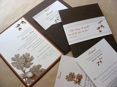 Invitatii nunta toamna